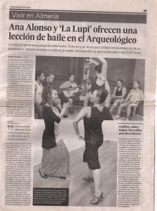 La Lupi y Ana Alonso. Baile flamenco