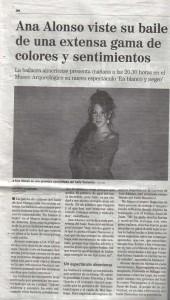espectáculo flamenco Ana Alonso