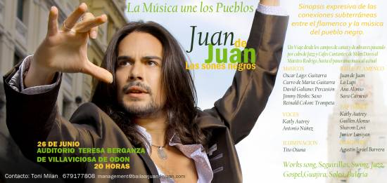 Con Juan de Juan en «Los sones negros»